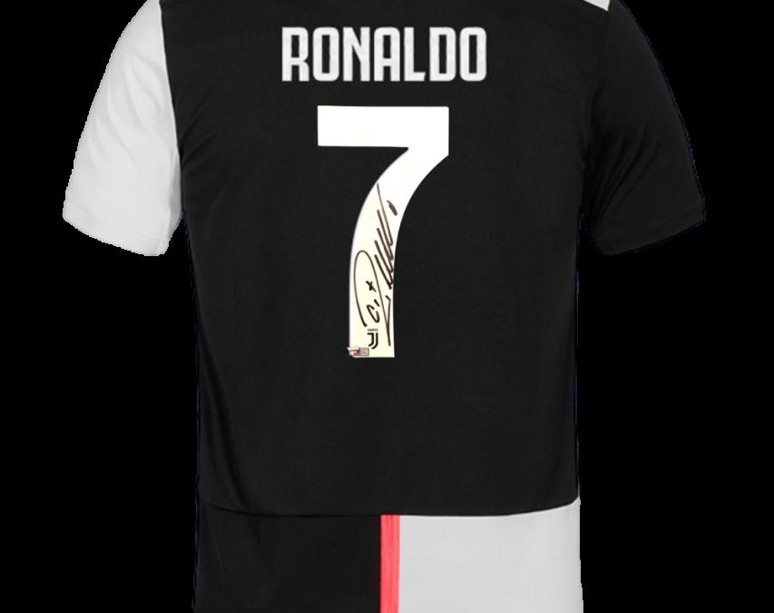 Ronaldo signed jersey